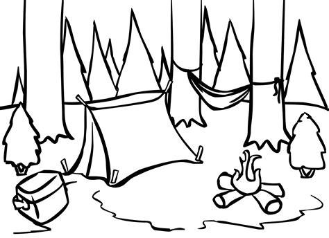 camping coloring pages coloringsuitecom