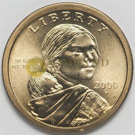 usa  dollar native american  sacagawea mint p