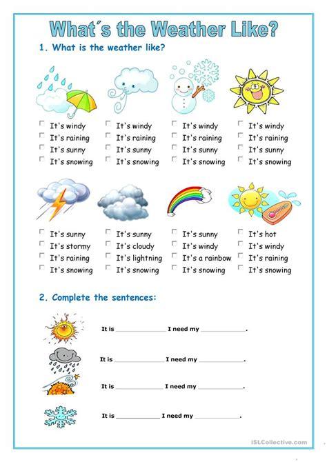 weather english esl worksheets db excelcom