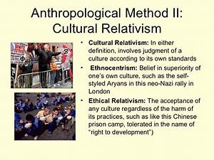 Princiiples of ... Cultural Relativism