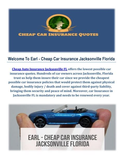 cheap auto insurance earl cheap auto insurance in jacksonville by earl