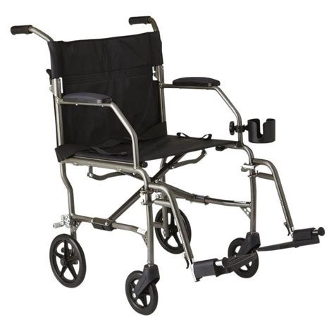Medline Transport Chair by Medline Freedom Transport Wheelchair In Silver