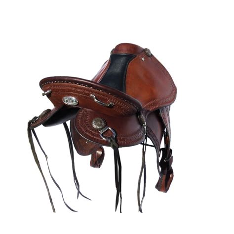 saddle trail saddles leather western platinum horn steele cart genuine seat colour pink horse larger