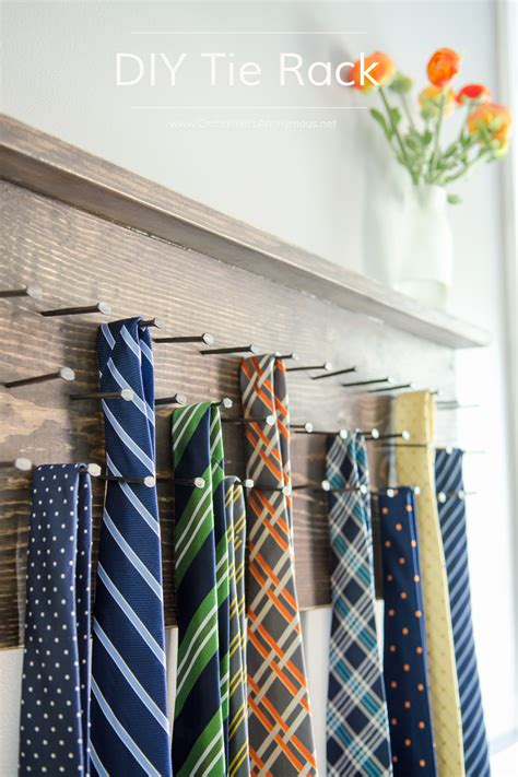 craftaholics anonymous diy tie rack tutorial