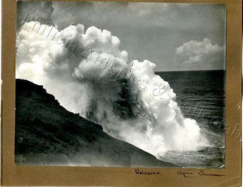 ebay volcano lava l c1894 photo volcanic eruption apia samoa r l stevenson