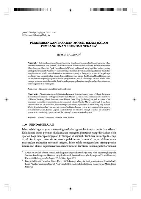 (PDF) Perkembangan Pasaran Modal Islam Dalam Pembangunan