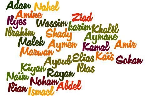 liste pr 233 noms gar 231 ons arabes rares et modernes pr 233 noms musulmans