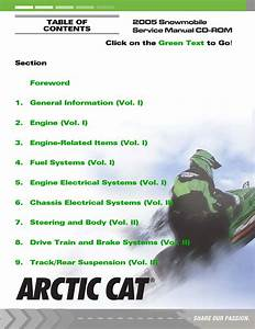 2005 Arctic Cat Sabercat 500 Snowmobile Service Repair