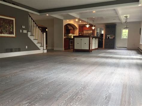 This Red Oak Floor was fumed and then finished with 5%