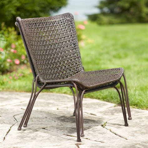 hton bay arthur all weather wicker patio stack chair 2