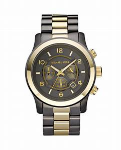 Michael Kors Mens Oversized Chronograph Watch in Gold for ...