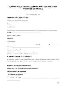 modèle contrat de bail commercial madagascar contrat de location vide mod 232 le bail non meubl 233 e 224 imprimer