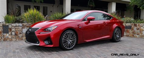 lexus cars red 2015 lexus rc f in red at pebble beach 64 car revs daily com