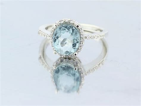 light blue ring special 2 51cts unheated light blue aquamarine