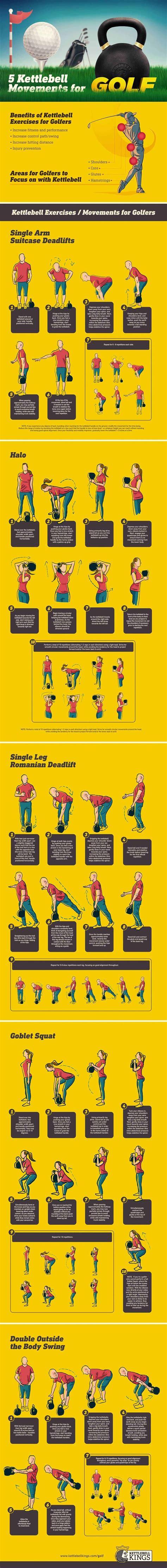 kettlebell golf movements golfers