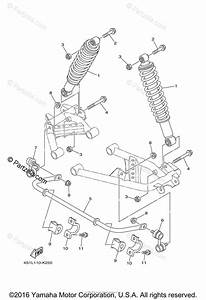 Yamaha Atv 2011 Oem Parts Diagram For Rear Suspension