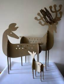 Cardboard Sculpture Deer