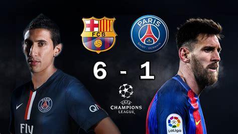 Барселона - ПСЖ (6:1) 8 марта 2017. Лига чемпионов 16-17. Основной турнир. Протокол матча