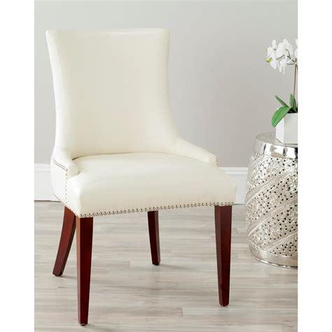 safavieh leather dining chairs safavieh becca flat leather dining chair mcr4502b