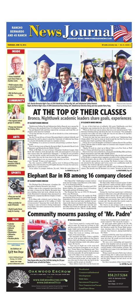 rancho bernardo news journal  mainstreet media