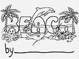 Beach Cartoon Boardwalk Number Template Personalization sketch template
