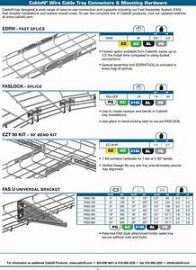 Cablofil Wire Cable Tray Product Specifications Brochure