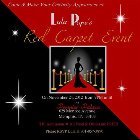 red carpet party invitations daddy daughter dance red