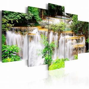 Bilder Natur Leinwand : leinwand bilder xxl kunstdruck wandbild wasserfall natur wald c b 0043 b m ebay ~ Markanthonyermac.com Haus und Dekorationen