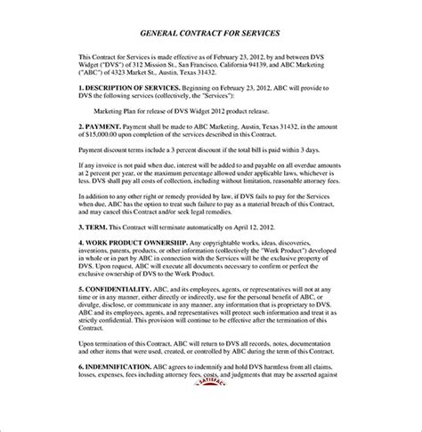 Contract For Professional Services Template by Service Contract Templates 14 Free Word Pdf Documents