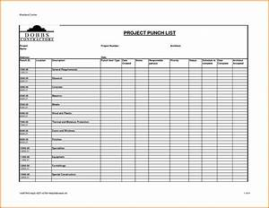 excel templates for construction project management and With punchlist template