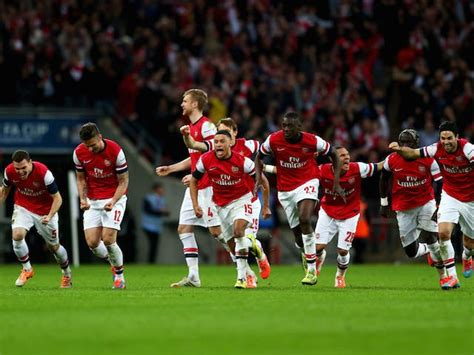 Result: Arsenal beat holders Wigan Athletic on penalties ...