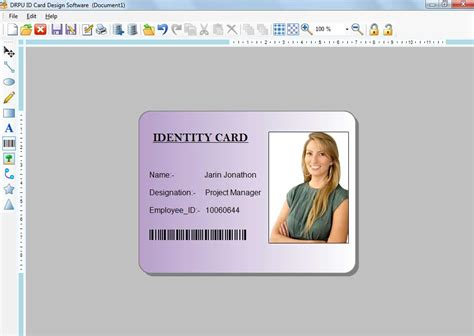 Photo Id Card Maker Free Software Demo Download Create