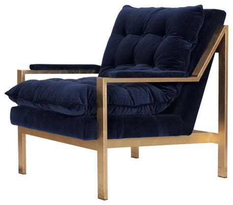 navy cameron chair contemporary armchairs and accent