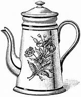 Teapot Tea Coloring Drawing Kettle Pages Printable Pot Clipart Drawings Coloringhome Pots Cliparts Cup Clip Sketch Draw Prints Template Sketches sketch template