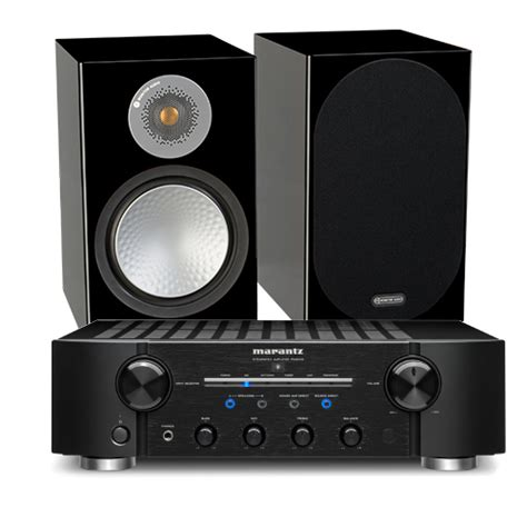 Marantz PM8006 HiFi Amplifier with Monitor Audio Silver ...