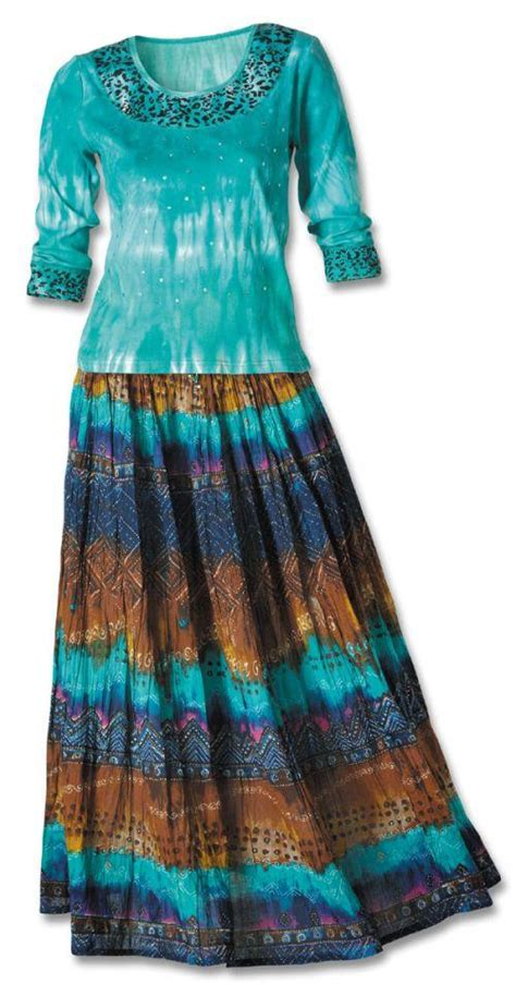 turquoise aztec knit top crinkle skirt set southwest