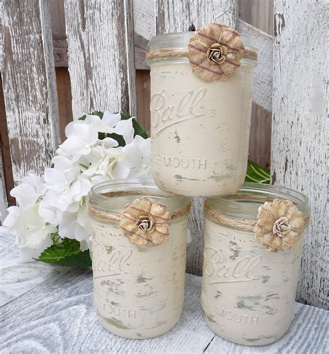 shabby chic candles shabby chic country upcycled mason jar candle by huckleberryvntg