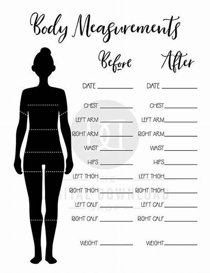 Weight Loss Printable Measurement Chart Fitness