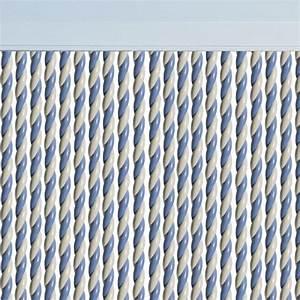 Rideau Blanc Et Bleu : rideau de porte en stock promotion permanente rideau ~ Teatrodelosmanantiales.com Idées de Décoration