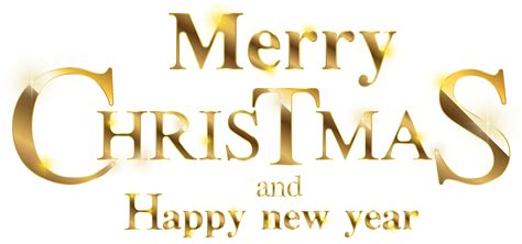 Background Png Merry And Happy New Year Png by Merry Gold Transparent Clip Image Gallery