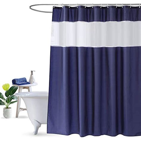 ufriday navy blue shower curtain mosaic fabric shower