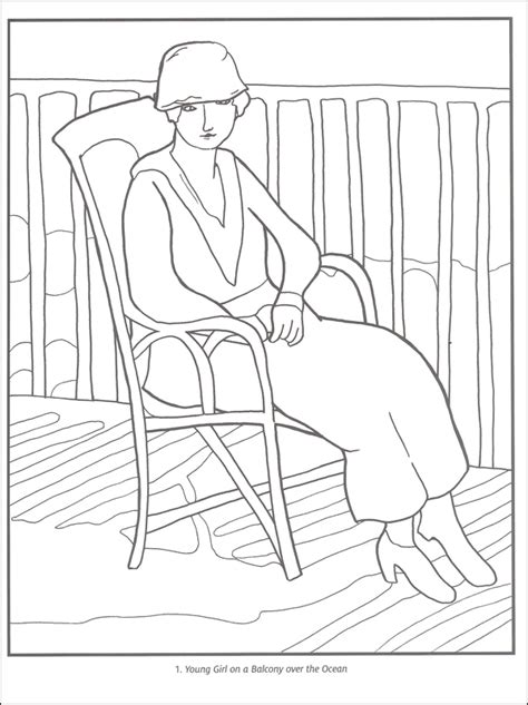 Henri Matisse Coloring Book 030034 Details Rainbow