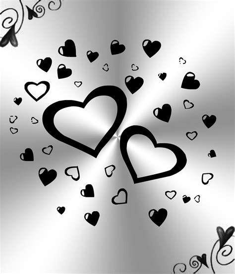 If you have one of your own you'd like to share, send it to us and we'll be happy to include it on our website. Black and White Hearts Background ·① WallpaperTag