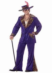 70s Purple Pimp Costume - Mens Cheetah Pimp Costumes
