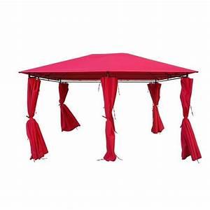 Tente De Jardin Pas Cher : kaligagan tente de jardin pergola 3x4m rouge tonnelle ~ Dailycaller-alerts.com Idées de Décoration