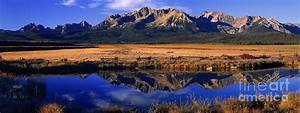 Fall Reflections Sawtooth Mountains Idaho Photograph by