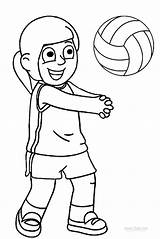 Volleyball Coloring Pages Sports Printable Cool2bkids Clipart Colouring Pallavolo Children Print Quotes Players Drawing Sayings Clip sketch template