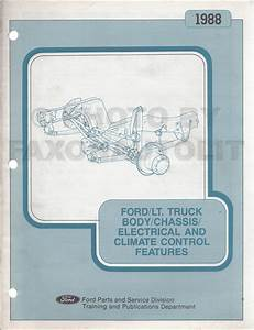 1988 Ford Econoline Van And Club Wagon Foldout Wiring Diagram Original