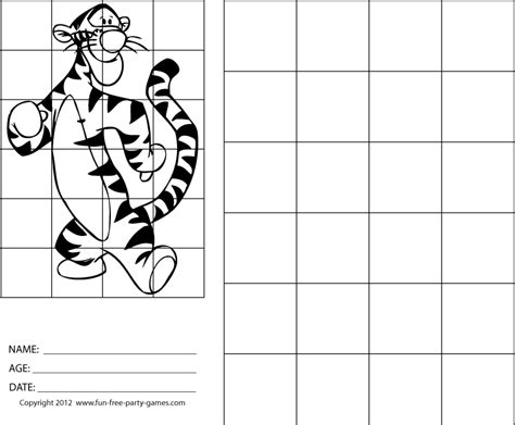tigger grid drawing drawing  grids winnie  pooh