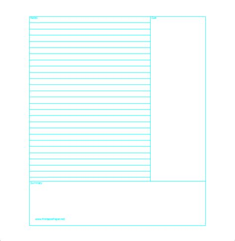 notes template pdf cornell notes template 51 free word pdf format free premium templates